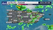 Jueves con precipitación en algunas regiones de Puerto Rico