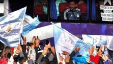 Grandes festejos de los aficionados por el título de Argentina