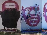 Vandalizan nuevamente mural con la esfigie de George Floyd en Salt Lake City