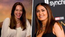 Angelina Jolie muere de risa al mostrar que aprende rápido las costumbres de su colega Salma Hayek