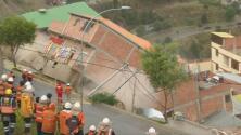 """""""Todas las casas se están cayendo"""": las impresionantes imágenes de deslizamientos de tierra que arrasan con todo en Bolivia"""