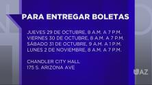 La ciudad de Chandler extiende el horario para la entrega de boletas electorales