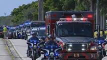 Con una larga caravana despiden al policía hispano que murió cumpliendo su labor en Hollywood, Florida