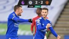 Gracias a Vardy, el Leicester le empató sobre el final al United