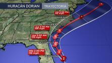 Reporte del Centro Nacional de Huracanes de las 5PM ET del 3 de septiembre sobre el huracán Dorian