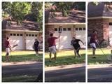 Reclama por un letrero político en una casa y la respuesta de un vecino se vuelve viral; todo quedó en video