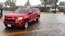 Las afectaciones de la lluvia en la ciudad de Santa Rosa