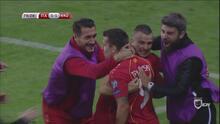 Macedonia sorprendió a Italia con gol de Trajkovski