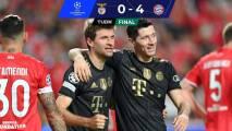 Resumen | Noche perfecta para el Bayern Múnich al golear al Benfica
