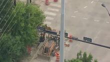 La situación en la US-59 y Shepherd Drive tras reportarse una fuga de gas en zona de construcción