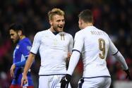Italia saca victoria por goleada de Liechtenstein y no se deja de España
