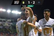 Resumen | Pumas deja el sótano y tras 1-2 ante León piensa en Repechaje