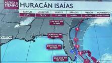 Se prevén algunas ráfagas de viento en el sur de Florida la noche de este viernes por Isaías