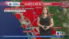 Emiten un aviso por riesgo de incendio en el norte de California