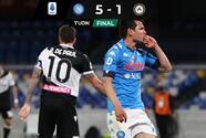 Napoli gana y Chucky llega al Top 5 de anotadores mexicanos en Europa