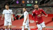 El United arrasó al Leeds de Bielsa y se acerca al Liverpool