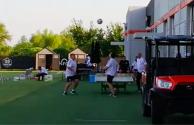 ¡Qué técnica Tata! Martino muestra sus dotes en tenis-balón