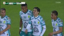 ¡Cabezazo letal! Víctor Dávila consigue el 1-0 para León