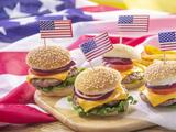 Mini hamburguesas para celebrar Memorial Day