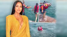 """""""¡Indeseable!"""": la reacción de Natti Natasha cuando Raphy Pina le hace una """"maldad"""" sin que ella sepa nadar"""