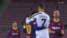 ¡Sí se saludaron! Messi y Cristiano se abrazan tras reencontrarse