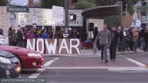Residentes y activistas de Phoenix levantan la voz contra el conflicto entre EEUU e Irán