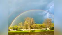 Después de la tormenta viene la calma y el arcoíris en el área de Chicago