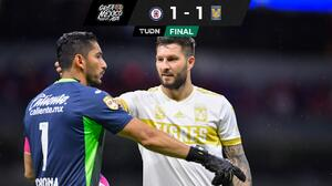 Tigres pone el golazo y el autogolazo, pero Cruz Azul no rompe el empate
