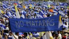 Convocadas por la Iglesia católica, miles de personas marchan a favor de la paz en Nicaragua
