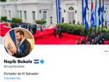 'Dictador de El Salvador': la nueva biografía de Bukele en su cuenta de Twitter