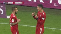 Espectacular definición de James para que el Bayern anote el tercero
