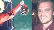 En video: Rescatan a un sufista que llevaba más de 30 horas perdido en aguas británicas