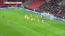 ¡GOL!  anota para Gales. Aaron Ramsey