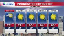 Pronóstico del tiempo para este domingo en Los Ángeles