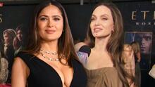 Angelina Jolie se desvive en halagos para su amiga Salma Hayek en su debut como heroína de Marvel