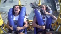 Gaviota impacta la cara de una niña en una atracción de la playa Wildwood, en Nueva Jersey