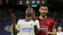 Real Madrid no pudo con Osasuna y aun así toma la cima