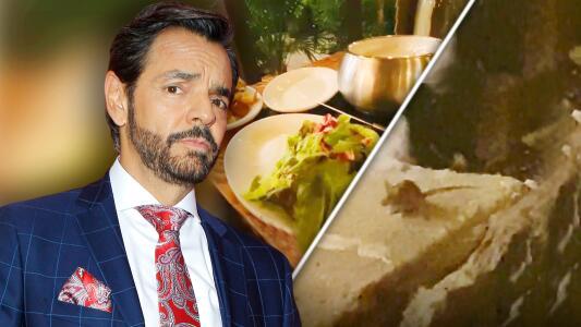 Eugenio Derbez se encontró con una RATA al cenar y así reaccionó el actor