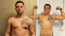 La increíble transformación de Eduin Caz tras un mes del 'reto fit'