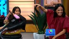 Karla y sus hijas se cortaron el cabello por una buena causa en vivo en Despierta América