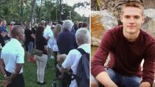 Honran en una vigilia a un joven turista asesinado en un restaurante de Miami Beach