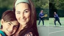 """""""Ni la más joven, ni la más ligerita"""", pero Eugenia Cauduro consiguió volver a jugar tenis con su hijo"""