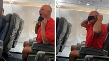 Con gruñidos de perro e insultos un pasajero arremete contra tripulación y otros pasajeros en un vuelo de Los Ángeles