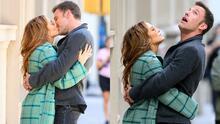 Envuelta en un exclusivo 'look' Dior,  JLo besa apasionadamente a Ben Affleck en NYC