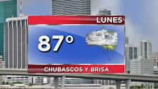 Alerta de corrientes de resaca y probabilidad de lluvia para este lunes en Miami