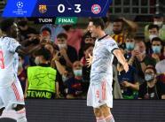 ¡Noche de terror para el Barcelona! Bayern Múnich los golea 0-3