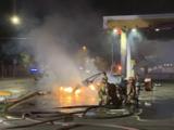 Un Tesla se estrella contra gasolinera y provoca incendio al oeste de Austin