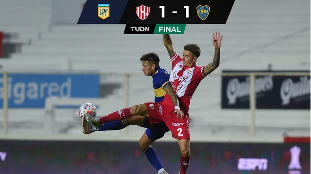 Boca Juniors piensa en la Libertadores y empata ante el Unión