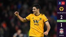 Con gol de Raúl Jiménez, Wolverhampton venció y eliminó al Liverpool de la FA Cup