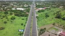 Totalmente desierta: así se vio esta autopista en Nicaragua en medio de la huelga general